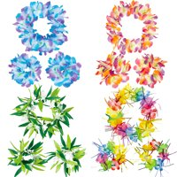 Party City Head and Wrist Lei Kit, Hawaiian Party Supplies, Includes Flower Crowns and Bracelets for 4 Guests