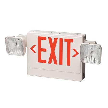 BIG BEAM BIG BEAM Plastic Bulb Exit Sign with Emergency Lights, 2EXKL2GWWU-3HRS Big Beam Emergency Lighting