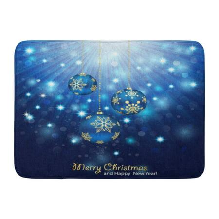 GODPOK Spotlight White Royal Blue Christmas Magic Ball Rug Doormat Bath Mat 23.6x15.7 inch