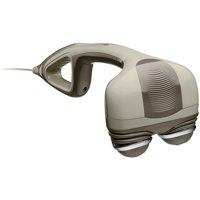 HoMedics Percussion Pro Handheld Massager With Heat, Variable Speed Control, Dual Pivoting Heads, HHP-350H