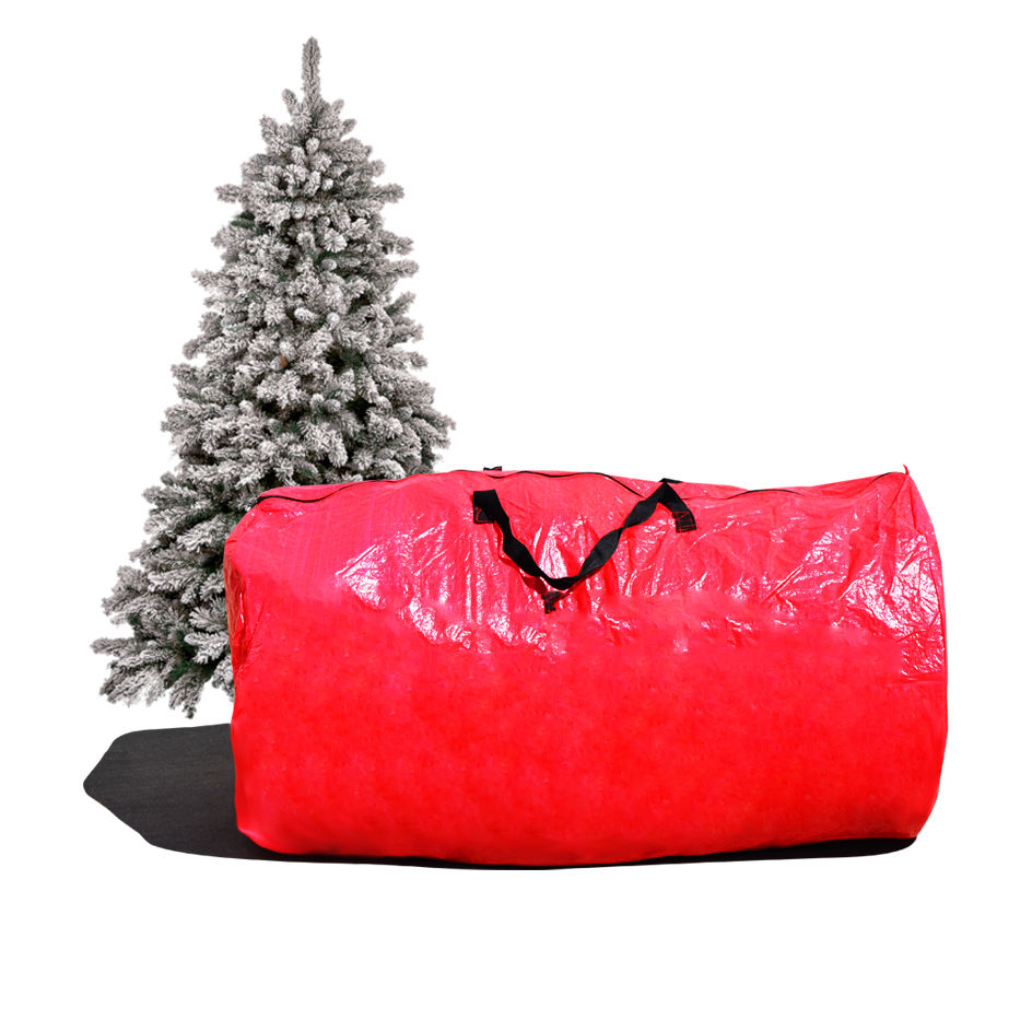 Large Artificial Christmas Tree Carry Storage Bag Holiday Clean Up 8' Red
