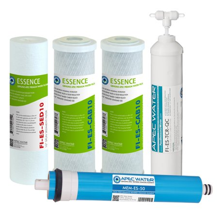 APEC FILTER-MAX-ES50 50 GPD High Capacity Complete Replacement Filter Set For Essence Series Reverse Osmosis Water Filter