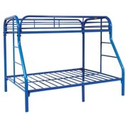 Twin Over Full Blue Bunk Bed