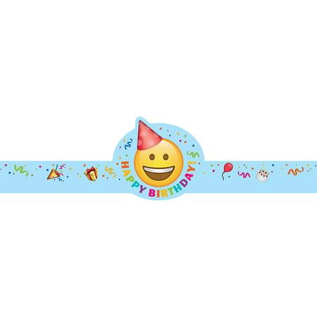 EMOJI FUN HAPPY BIRTHDAY CROWNS