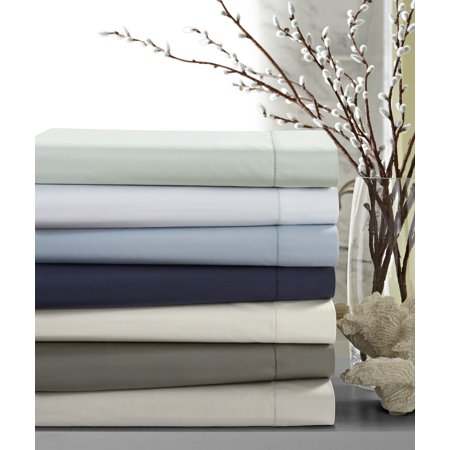- 500 Thread Count Cotton Percale Extra Deep Pocket Sheet Set Full White