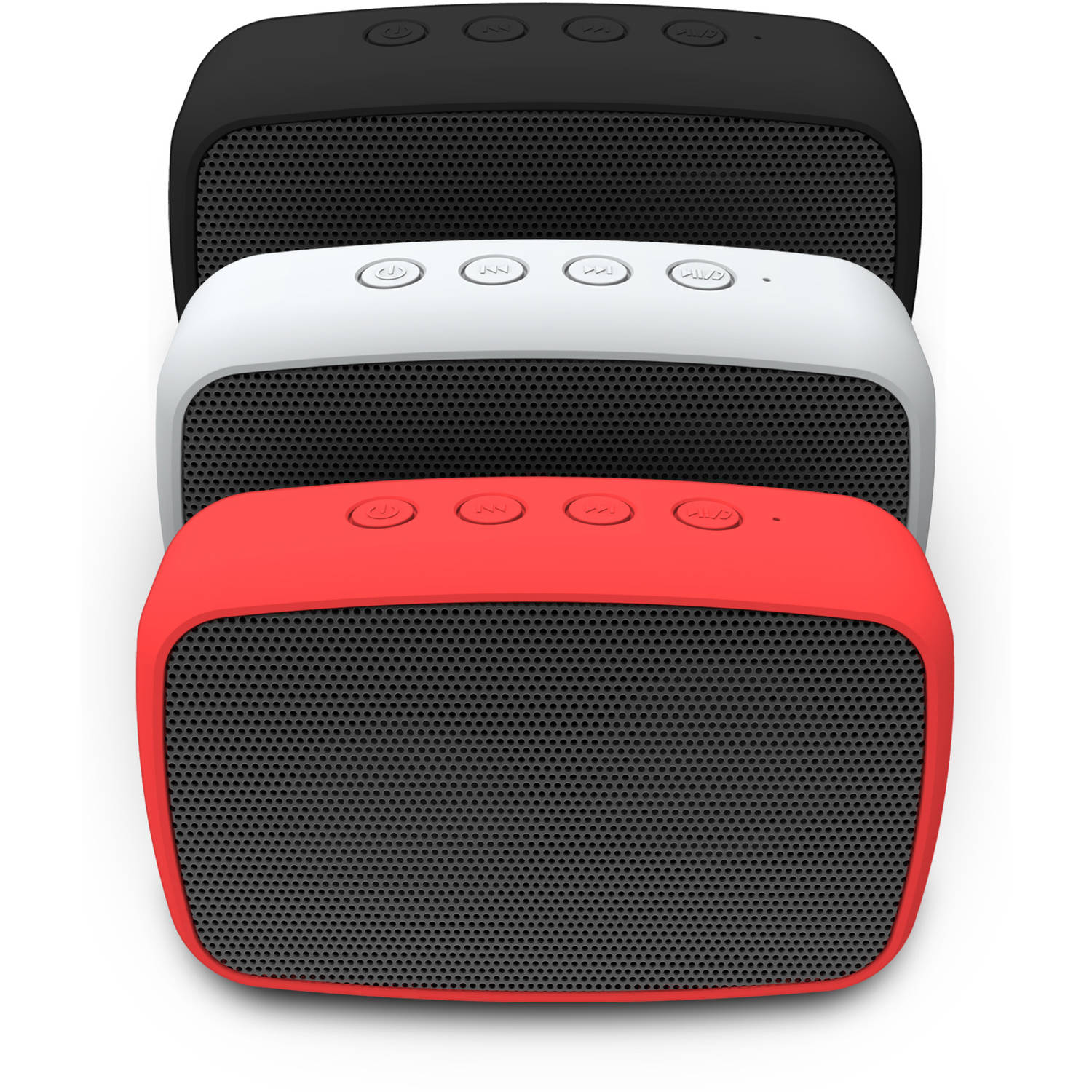 RuggedLife Water-Resistant Bluetooth Speaker and Speakerphone, Black (ESQ206BL)