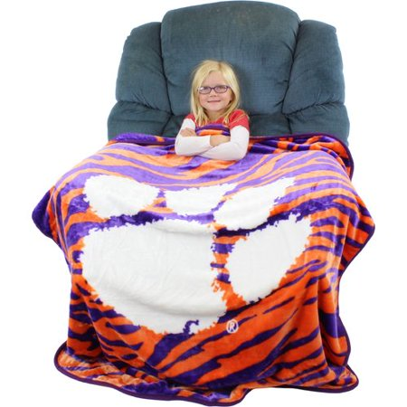 College Covers Clemson Tigers Throw Blanket