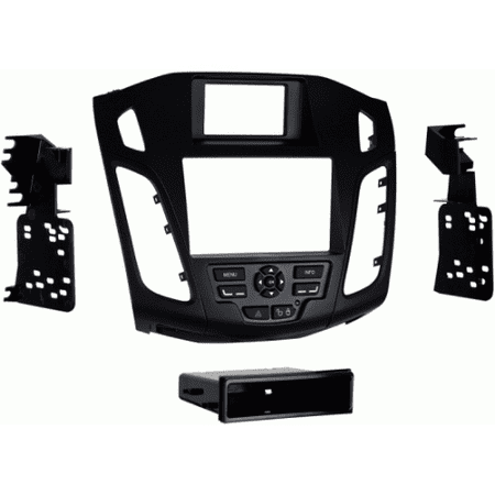 metra 99-5827b black single/double din stereo dash kit for 2012-up ford focus
