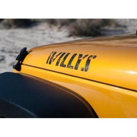 Jeep Jeep Willys Hood Decal, Black 5SE86RXFAA 5SE86RXFAA Decals 1958 Jeep Willys Brake