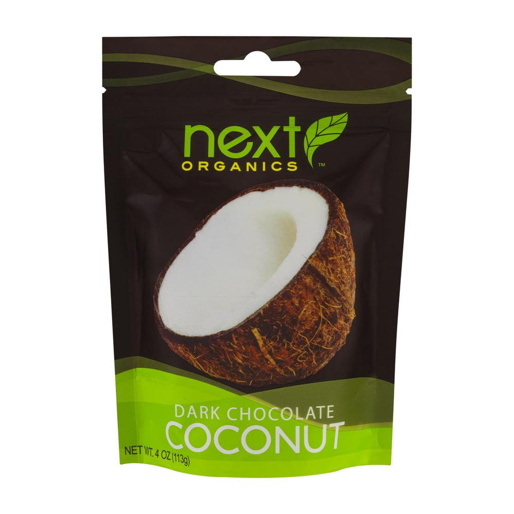 Next Organics Dark Chocolate Coconut, 4.0 OZ
