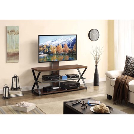 Whalen 3 In 1 TV Stand For TVs Up To 70 Cappuccino