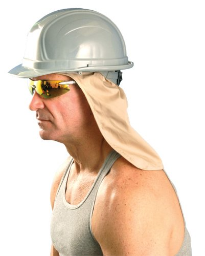 971 by OccuNomix One Size w//Terry Sweatband Khaki Cooling Hard Hat Neck Shade
