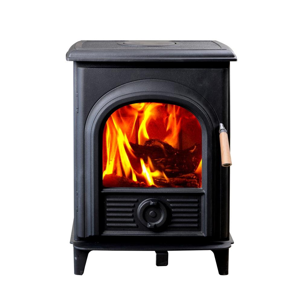 Hiflame Shetland HF905UPB steel plate wood burning stove wood fireplace of