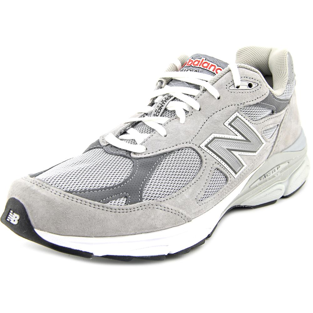 New Balance M990 Men 2A Round Toe Suede Gray Running Shoe