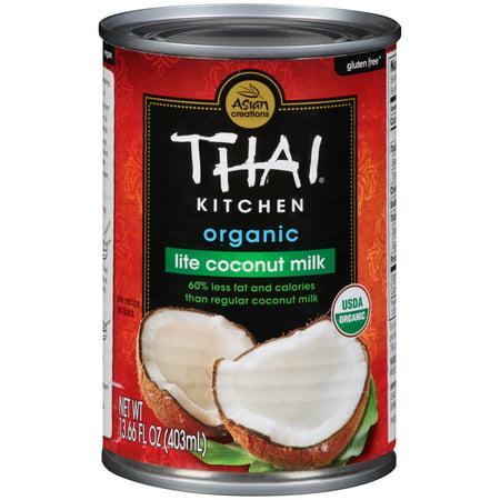 (6 Pack) Thai Kitchen Organic Gluten Free Lite Coconut Milk, 13.66 fl oz (thai kitchen organic coconut milk)