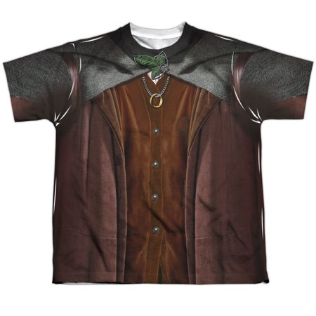 Lord Of The Rings Frodo Costume Big Boys Youth Sublimated Polyester - Frodo Lord Of The Rings Costume