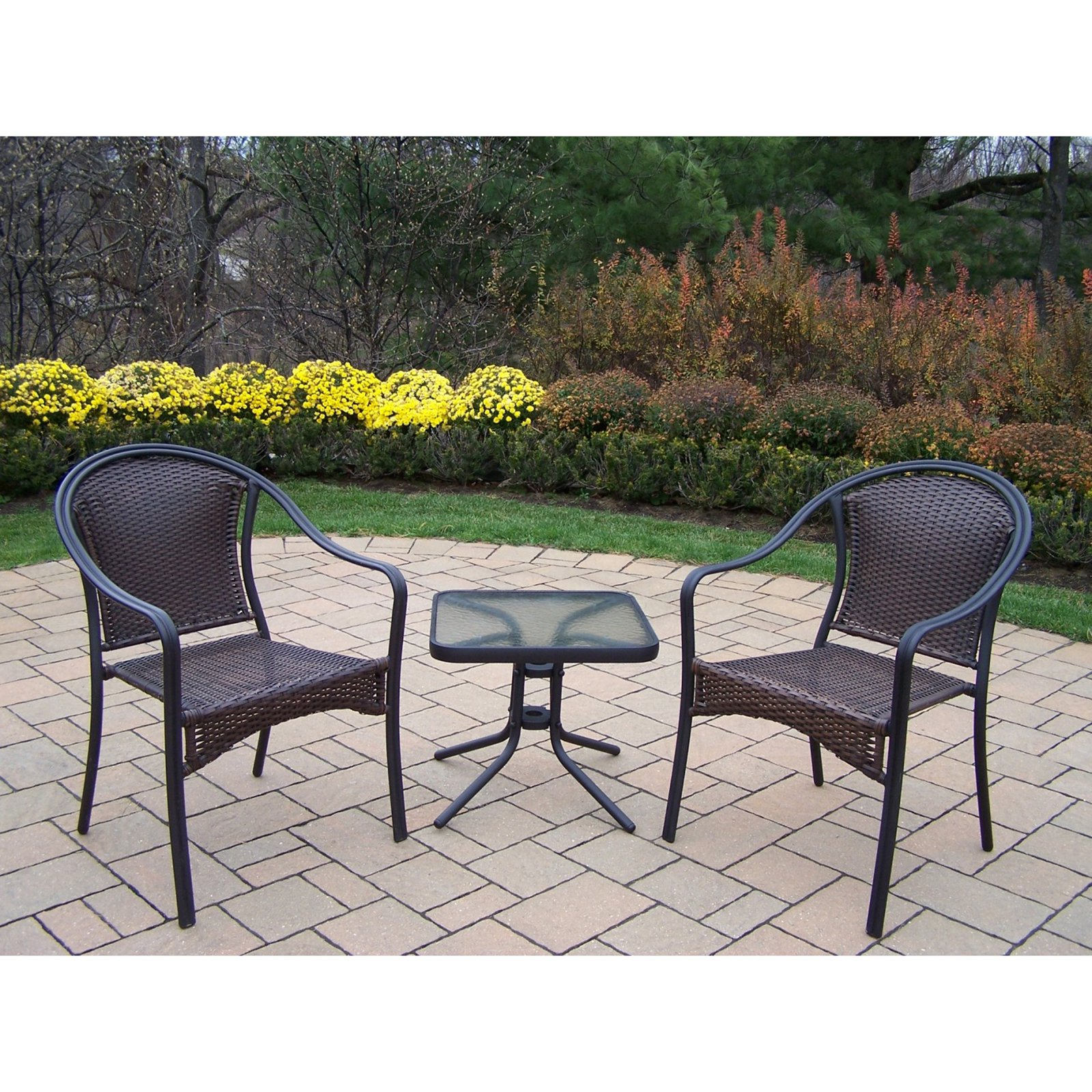 Oakland Living Tuscany 3 Piece Chat Set