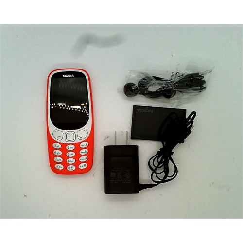 Refurbished Nokia 3310 Cell Phone (Unlocked) Red TA-1036 WARM RED