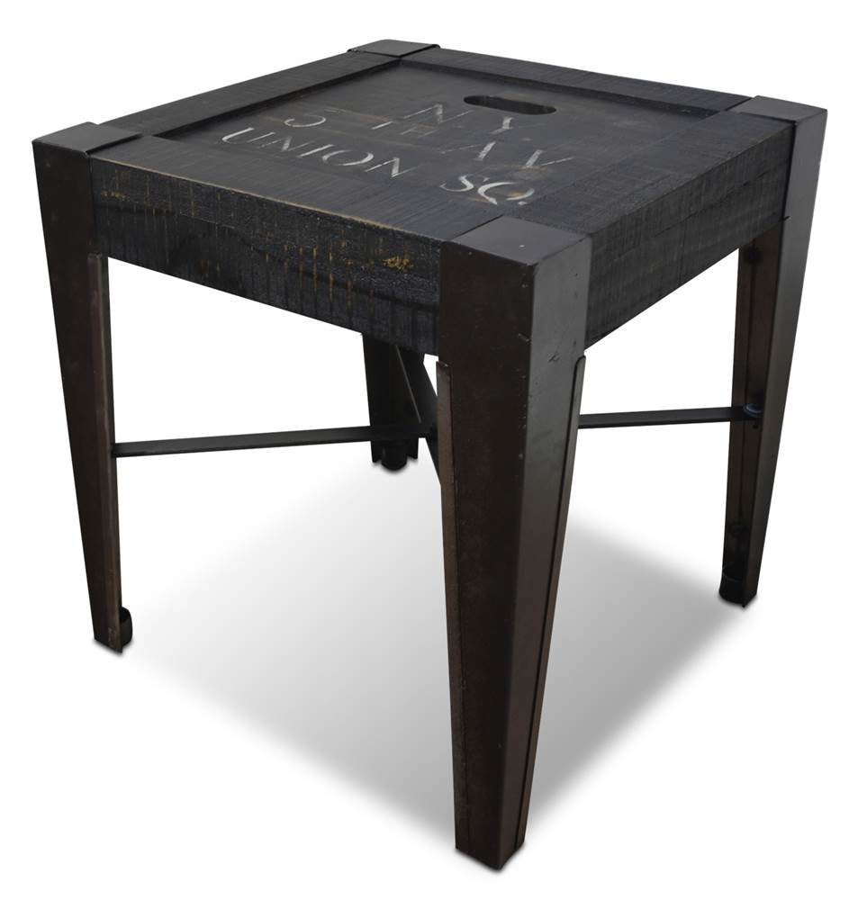 distressed black end tables end table in distressed black and white walmart 6778