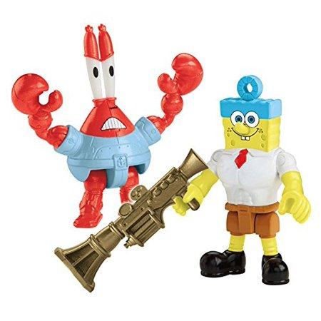 Fisher-Price Imaginext Nickelodeon Movie (2-Pack), Invinci Bubble and Sir Pinch-a-lot FiguresKids will love pretending with all of SpongeBob's friends By SpongeBob SquarePants