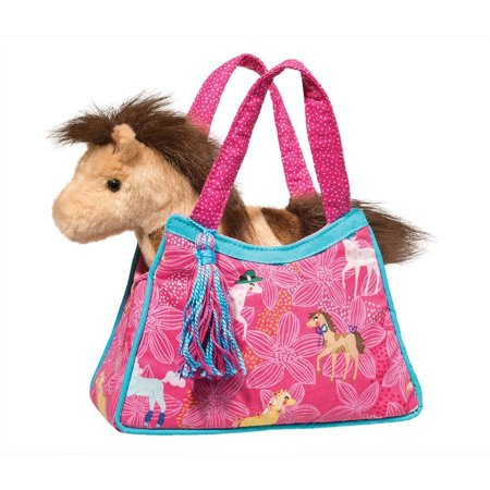 Pretty Ponies Sak with Horse - Stuffed Animal by Douglas Cuddle Toys (2171) (Horse Stuffed Animal)