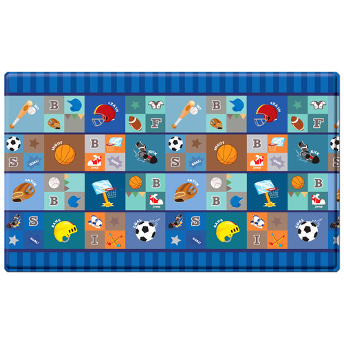 Dwinguler Kid's Playmat in Star Player Indoor/Outdoor Area Rug