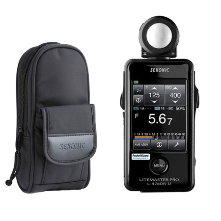 Sekonic Meter - Sekonic LiteMaster Pro L-478DR-U Light Meter for PocketWizard System With Exclusive USA Radio Frequency And Exclusive 3-Year Warranty + Sekonic Deluxe Case for L-478-series meters