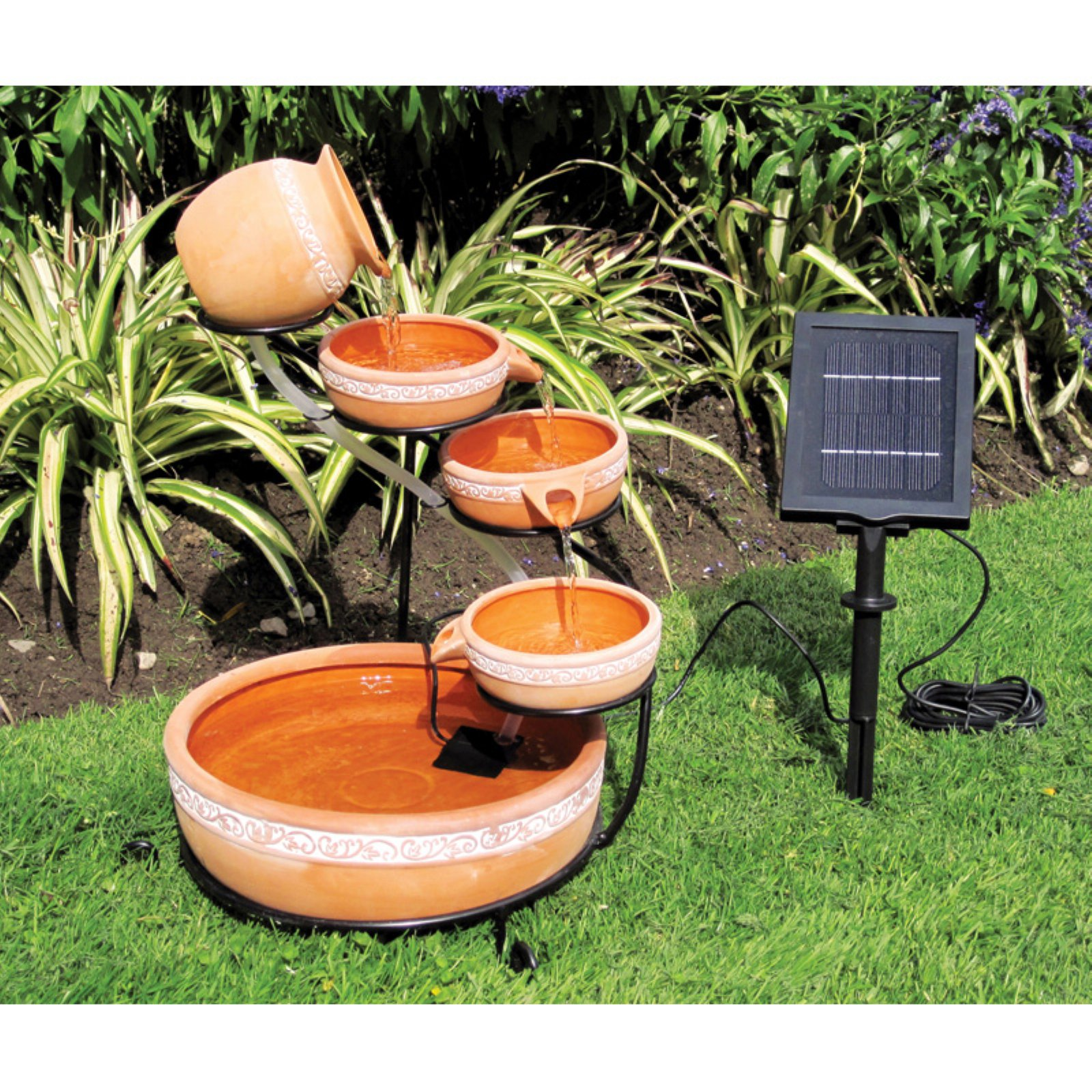 Koolscape 5-Tier Solar Cascading Fountain