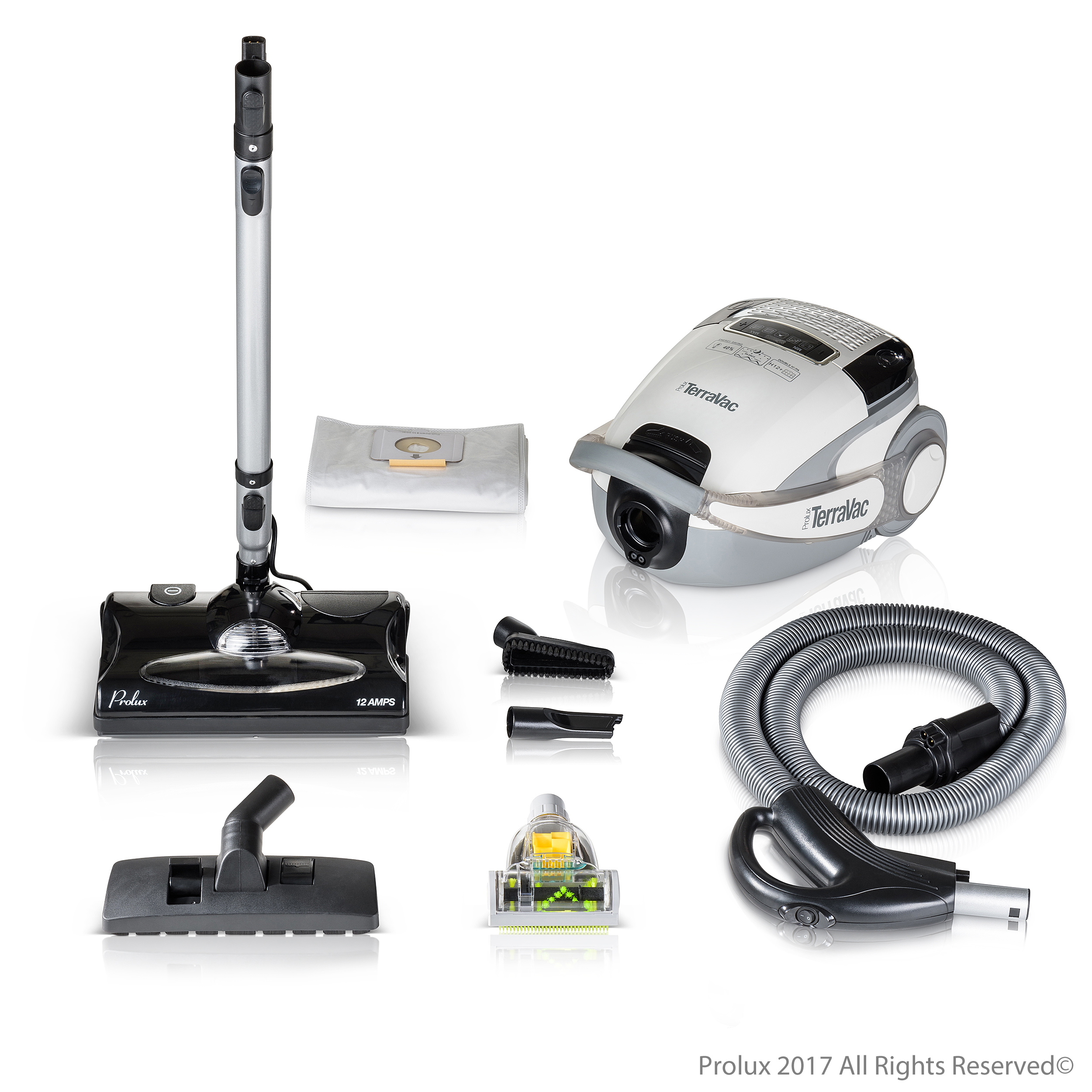 Prolux TerraVac 5 Speed Quiet Canister Vacuum Cleaner with sealed HEPA Filter