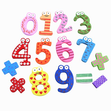 Moderna Wooden Numeric Symbol Fridge Magnets Kids Educational Maths Toy Refrigerator Magnet