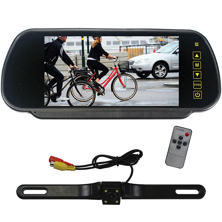 """Tview 7"""" Rear view monitor with backup camera remote"""