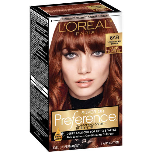loreal paris superior preference hair color kit 6ab chic