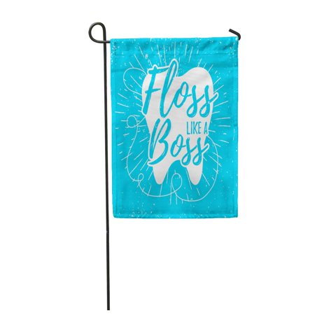 SIDONKU Dental Care Motivation Saying Dentist Day and Tooth Effect Easy to Remove Floss Garden Flag Decorative Flag House Banner 12x18 inch](Dental Halloween Sayings)