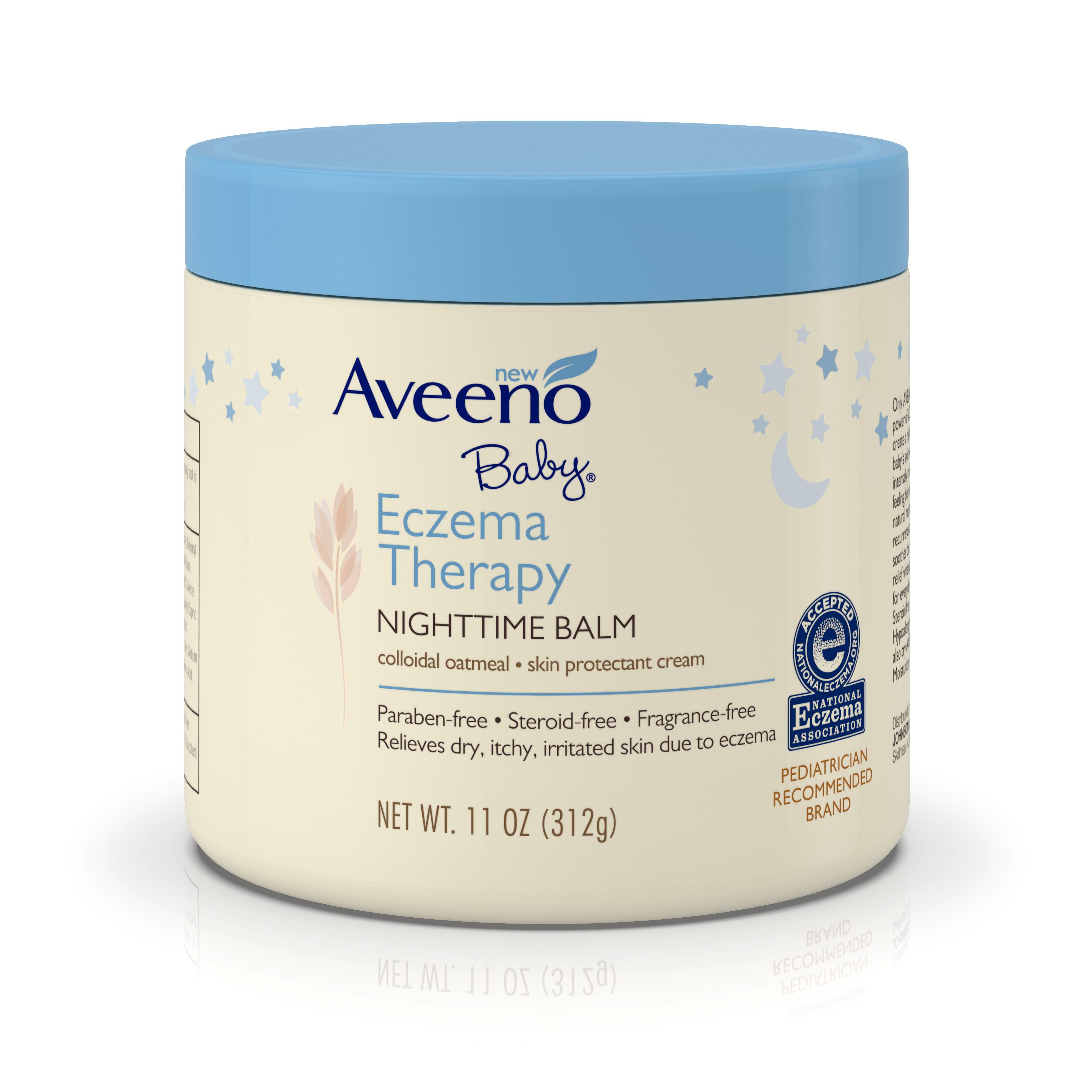 Aveeno Baby Eczema Therapy Nighttime Balm, 11 Oz - Walmart.com