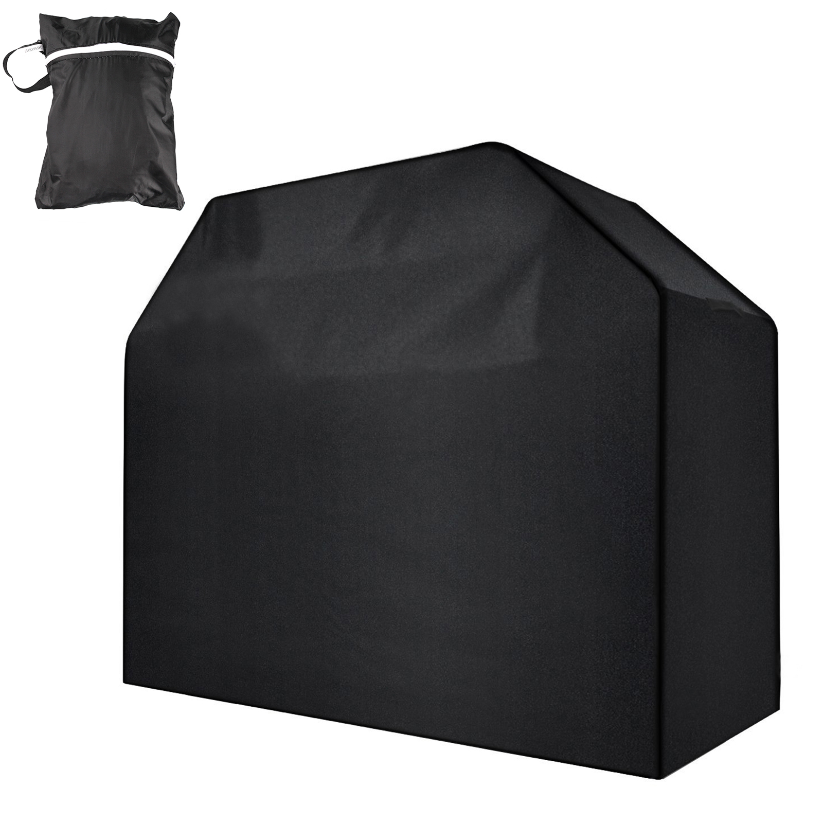 """Universal Gas Grill Cover, 57"""" 58"""" Heavy Duty Waterproof Barbecue BBQ Cover Durable Nylon Fabric Resistant Material, Fits Grills of Weber Char-Broil Nexgrill Brinkmann and More"""