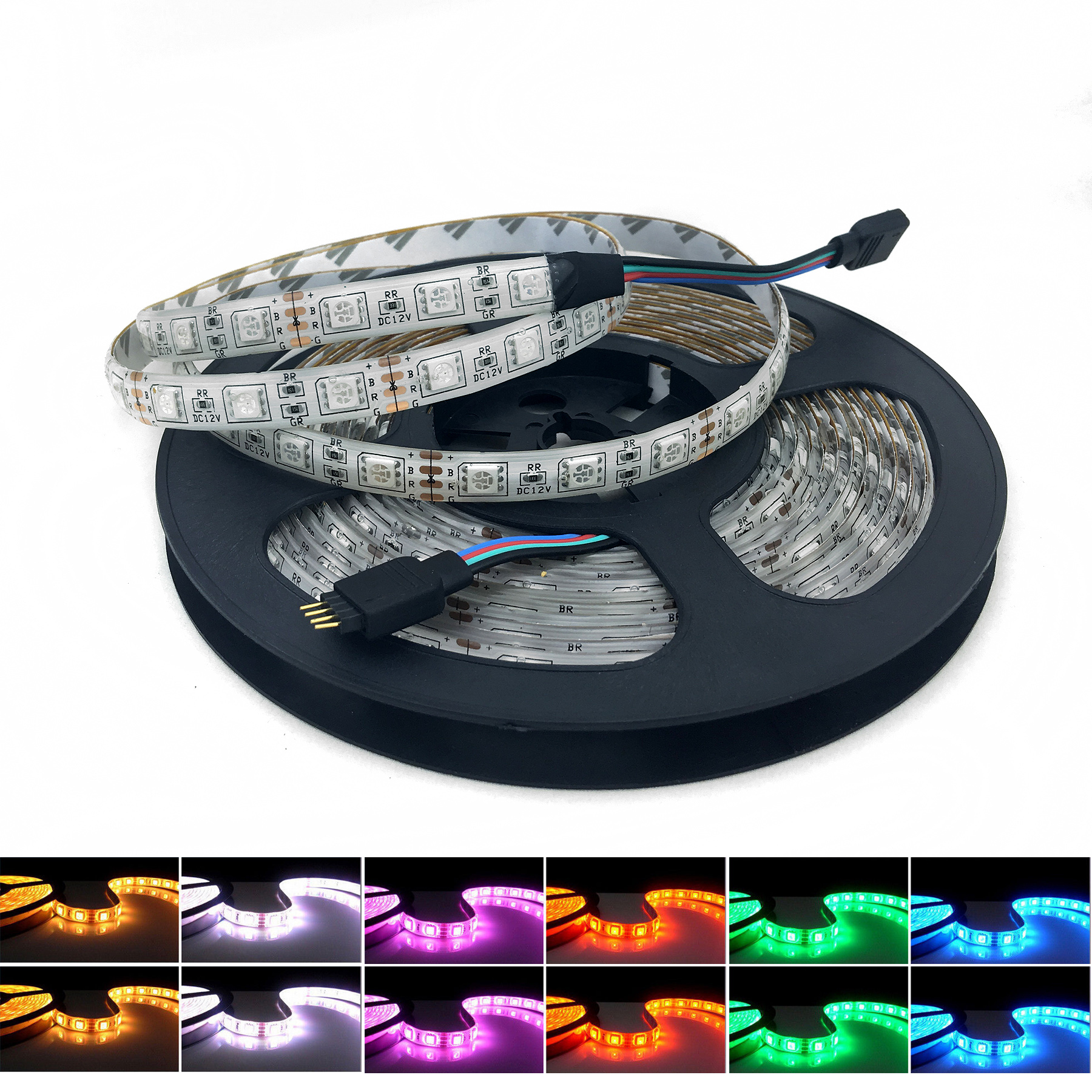 5M RGB 5050 LED SMD Waterproof Flexible 300 LED Strip Light 60leds/m 12V