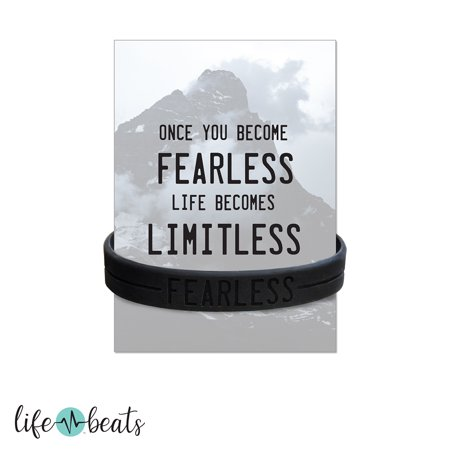 Cheap Silicone Wristbands (Lifebeats Fearless Silicone)