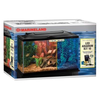 Aquatics bio wheel led aquarium kit 10 gal for Fish tank kits walmart