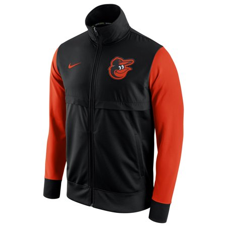 Men's Nike Black/Orange Baltimore Orioles MLB Track Jacket