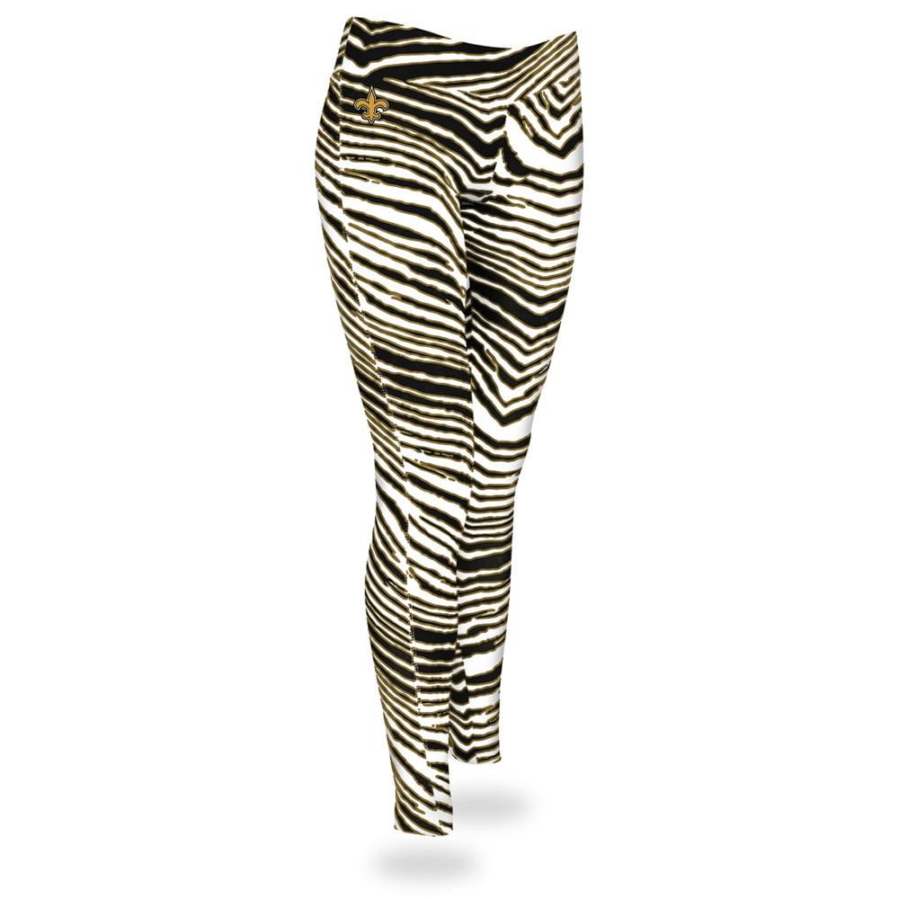 New Orleans Saints Zubaz Women's Leggings - Black/Gold