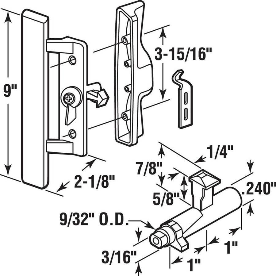 Prime Line C 1258 Sliding Door Handle 3 1516 X 1 34 Inch