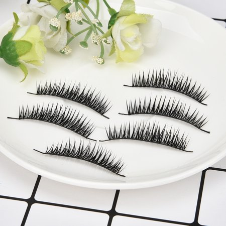 1 Box With 10 Pairs Natural Long Fake Eye Lashes Thick False Eyelashes Makeup](Halloween Makeup Boxer Black Eye)