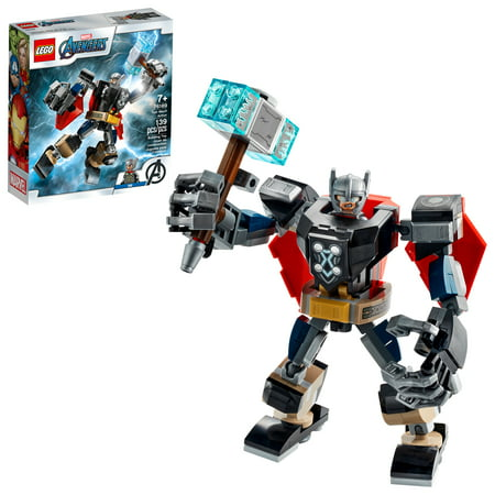 LEGO Marvel Avengers Classic Thor Mech Armor 76169 Cool Thor Hammer Playset (139 Pieces)
