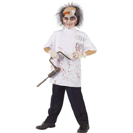 Doctor Killer Driller Teen Halloween Costume - One - Cereal Killer Costume Halloween