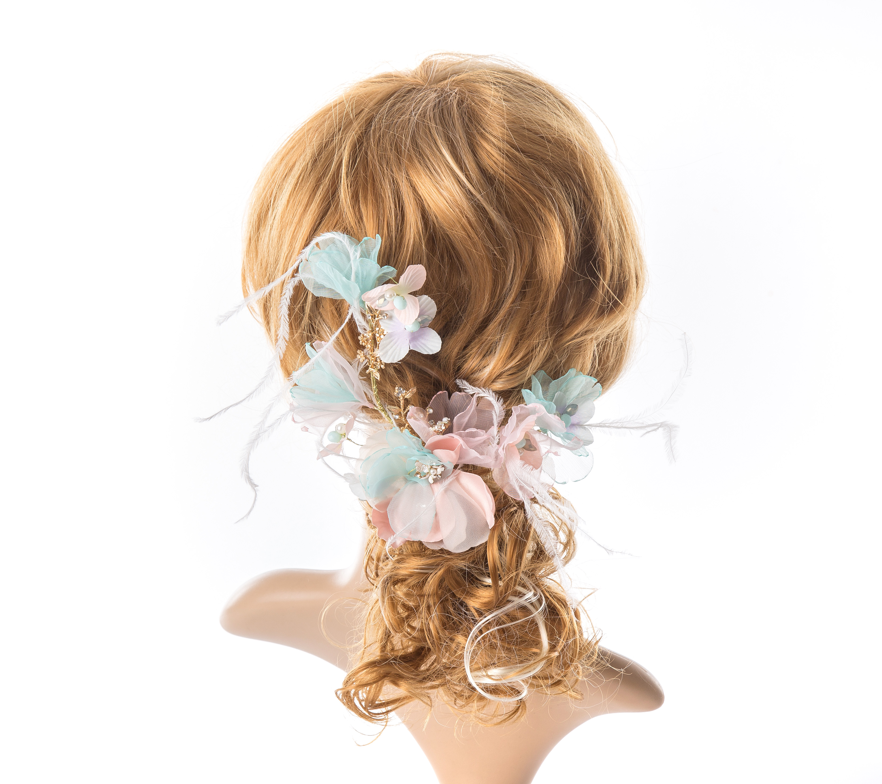 Little Dream Bridal Hair Comb Ivory Hair Comb Floral headpiece Wedding headpiece Floral hair comb Silk Flower Comb Bridal Headpiece