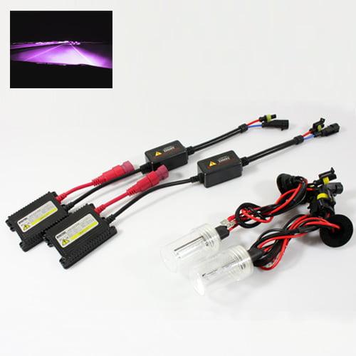 ModifyStreet® H1 35W Hi-Power Slim DC Ballast Xenon HID Conversion Kit - 12000K Violet Pink
