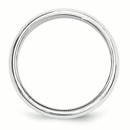 14K White Gold 5mm Milgrain Band - image 3 of 5