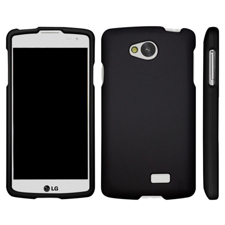 LG Tribute, LG Transpyre, LG Optimus F60, [SNAP SHELL][Matte Black] 2 Piece Snap On Rubberized Hard Plastic Cell Phone Cover with Cool Designs -