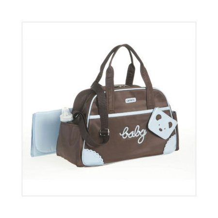 carter 39 s 39 39 baby 39 39 valise diaper bag in brown blue. Black Bedroom Furniture Sets. Home Design Ideas