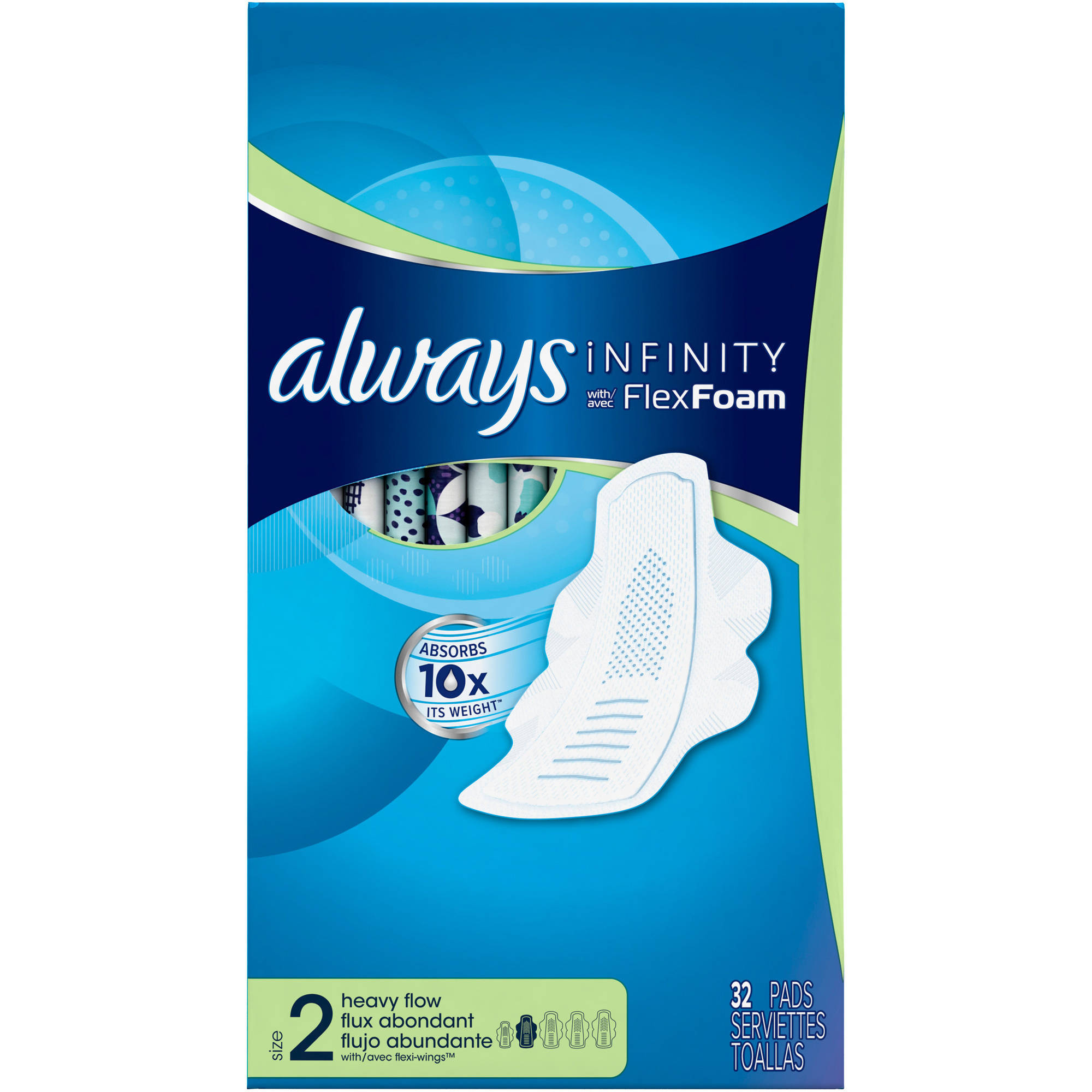 Always Infinity Heavy Flow Pads with Flexi-Wings, (Choose your Count)